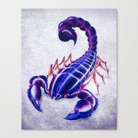 Purple scorpion Canvas Print