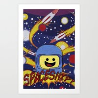 Spaceship!  Art Print