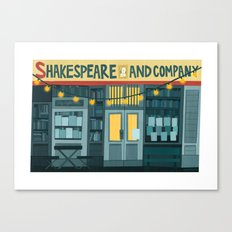 Shakespeare & Co. Canvas Print