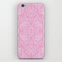 Ab Lace Pink iPhone & iPod Skin
