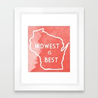 Midwest is Best in Badger Framed Art Print