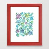Color Blooms Framed Art Print