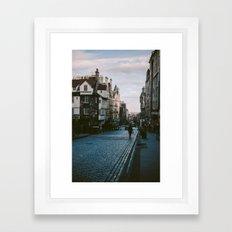 The Royal Mile in Edinburgh, Scotland Framed Art Print