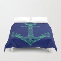 Anchor; ornate anchor Duvet Cover