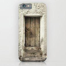 Retro door in mountains village iPhone 6 Slim Case