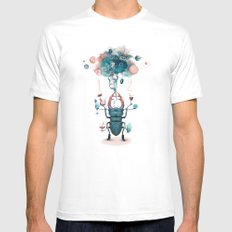 funny beetle SMALL White Mens Fitted Tee