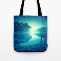 Bluestone Lake Morning Tote Bag