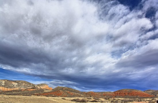 Red Mountain Open Space Art Print