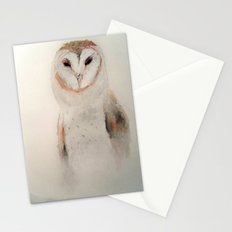 Owl in the fog Stationery Cards