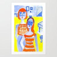 Blue Group Art Print