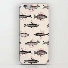 Fishes In Geometrics (Red) iPhone & iPod Skin