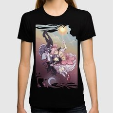 Troubling Fate Womens Fitted Tee Black SMALL