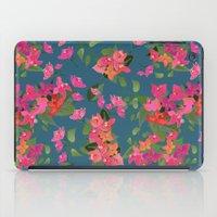 April blooms(Bougainvillea_blue) iPad Case