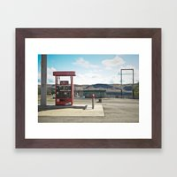 vantage. Framed Art Print