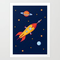 Spaceship! Art Print