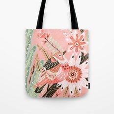 Little Pink Bird Tote Bag