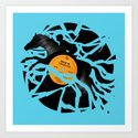 Disc Jockey Art Print