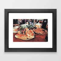 I Thought You Said We'd Meet Up At The Bread Basket? Framed Art Print