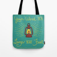 Your Word Is A Lamp To M… Tote Bag