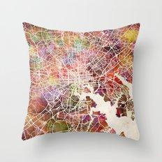 Baltimore map Throw Pillow