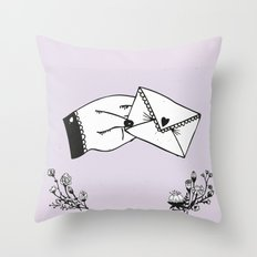 Snail Mail Love Throw Pillow