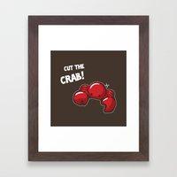 Cut the crab! Framed Art Print