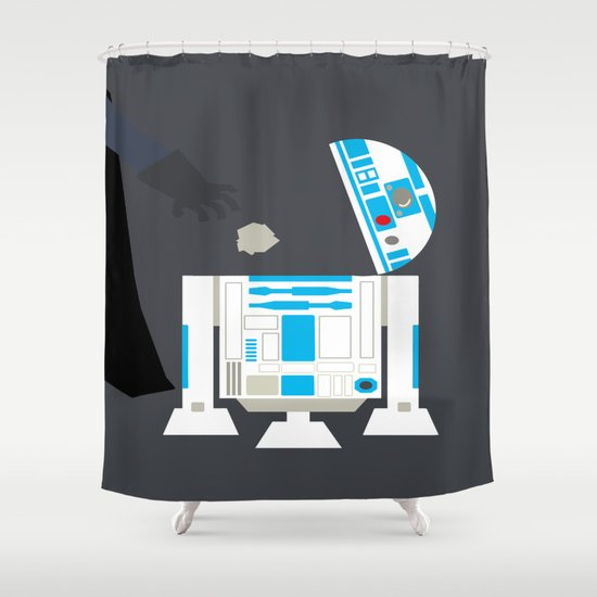 Darth vader amp r2d2 shower curtain by gunberk society6