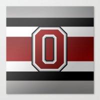 OSU Glove Stripe Canvas Print
