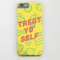iPhone & iPod Case featuring Treat Yo' Self by Zeke Tucker