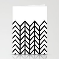 BLACK & WHITE LACE CHEVRON Stationery Cards