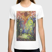Loneliness under the street light Womens Fitted Tee White SMALL