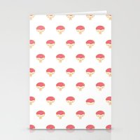 Donuto - Strawberry Topping Stationery Cards