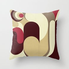 5 Colors Composition (#1) Throw Pillow