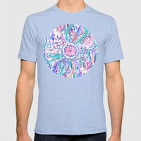 Boho Flower Burst In Pin… Mens Fitted Tee Tri-Blue SMALL