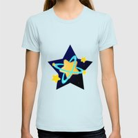 Popstar Womens Fitted Tee Light Blue SMALL