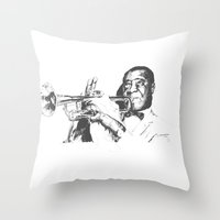 Louis Armstrong, Satchmo or Pops Throw Pillow