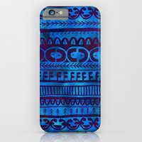 iPhone & iPod Case featuring Noni-Blue by Schatzi Brown