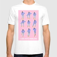 Hotline bling (pink) Mens Fitted Tee White SMALL