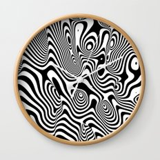 Trippy Background Wall Clock