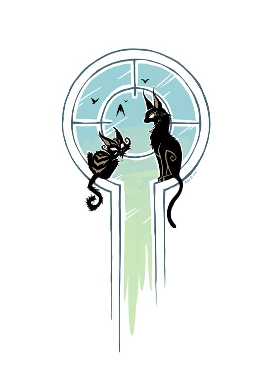Window Cats Art Print