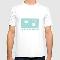 half & half Mens Fitted Tee White SMALL