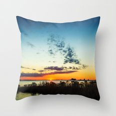 Gulf Coast Sunset Throw Pillow