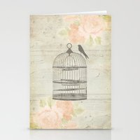 Rustic Birdcage Stationery Cards