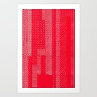 White Over Red Art Print