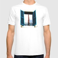 Window To The Present Mens Fitted Tee White SMALL