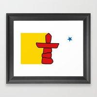 Flag of Nunavut - High quality authentic HD version Framed Art Print