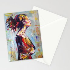 Lena- beautiful woman Stationery Cards