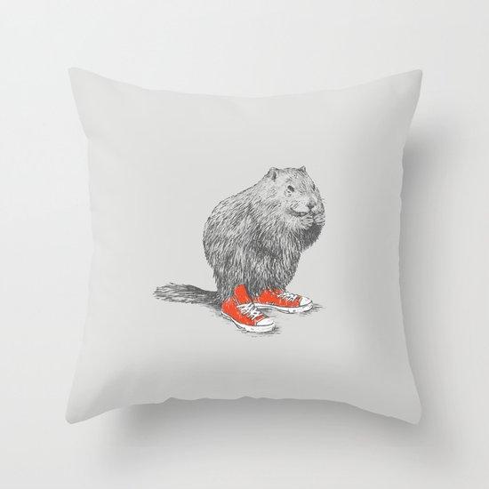 Woodchucks Throw Pillow
