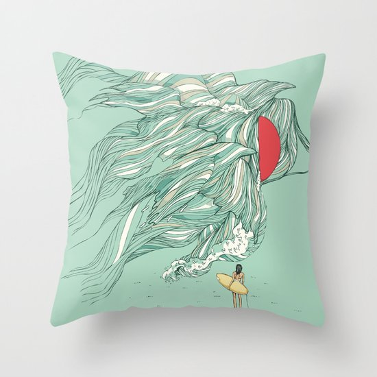 Ocean Summer Throw Pillow