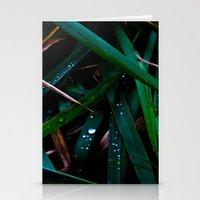 Dark Leaves Stationery Cards